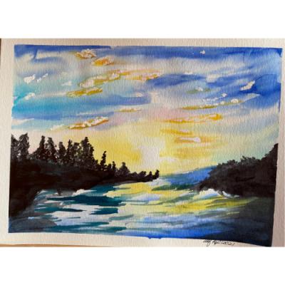 Sunset Over Chippewa Harbor